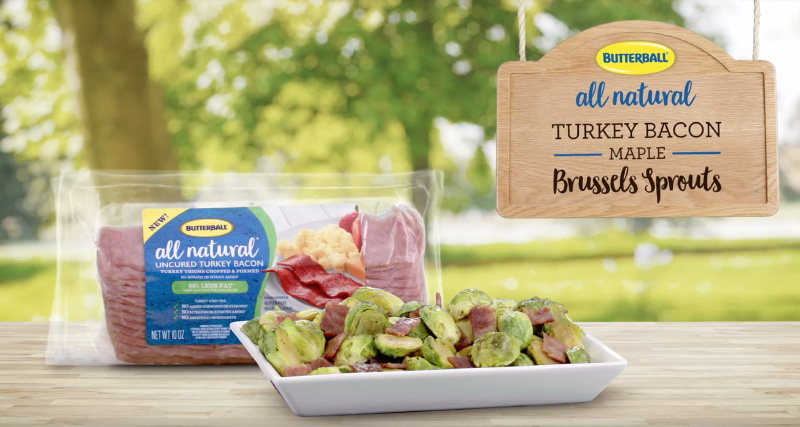 Try this delicious Butterball® All Natural Turkey Bacon Maple Brussels Sprouts