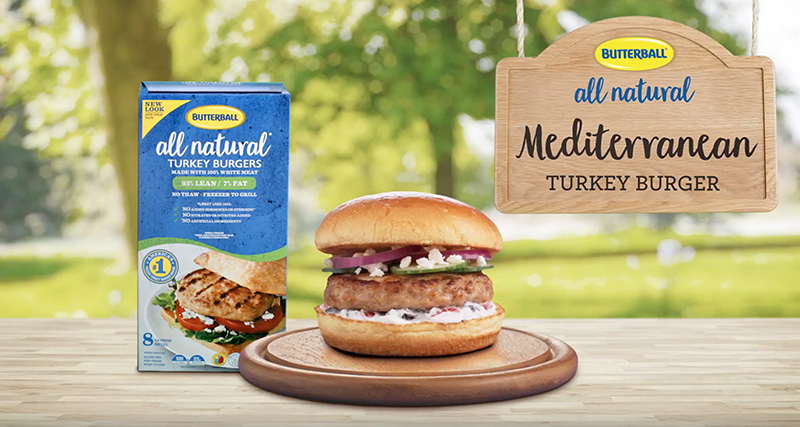 Try this delicious Butterball® All Natural Mediterranean Turkey Burger